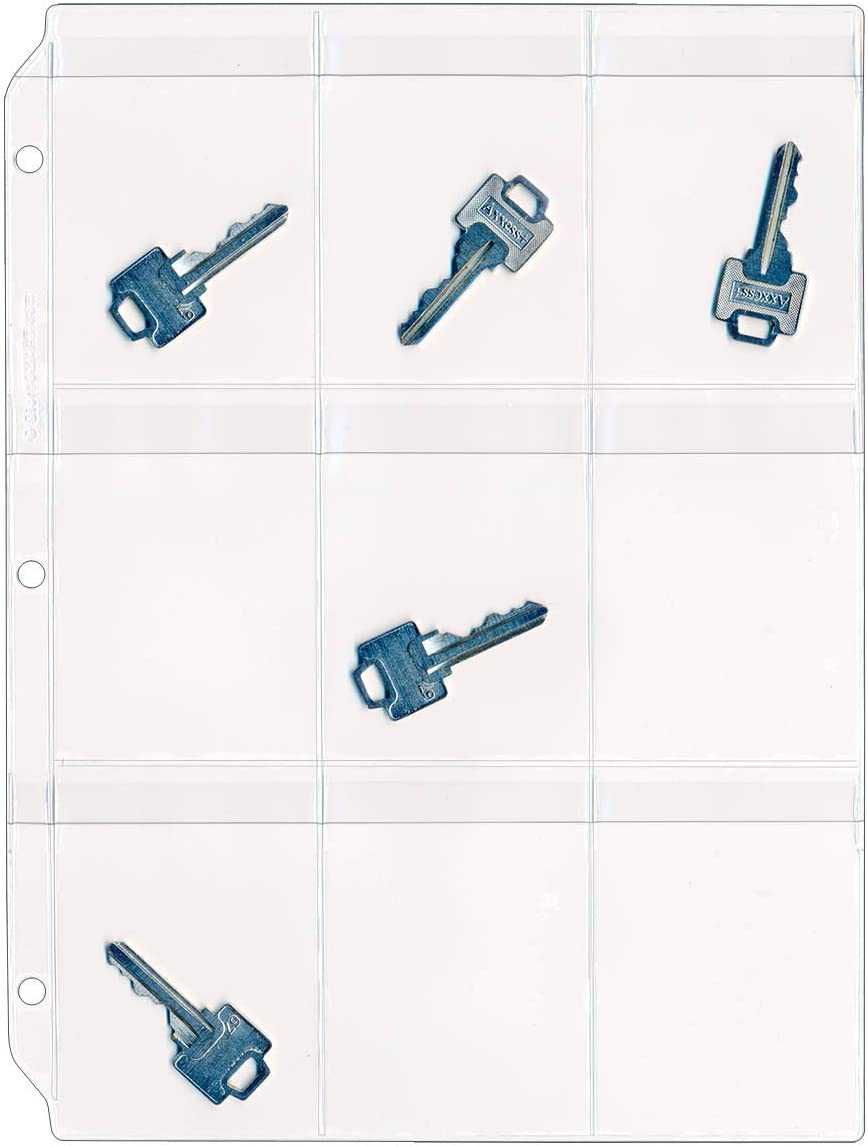 StoreSMART Key Holder - Store Clear Vinyl Binder Load Pages with Top Rare