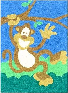 Sandtastik Preschool Craft Peel N Stick Sand Art Board #12 - Waving Monkey