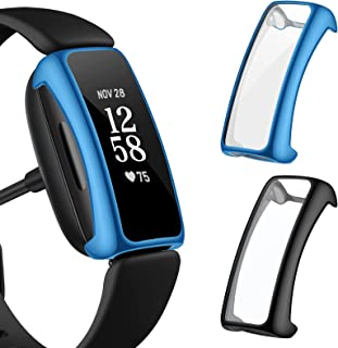 EZCO 2-Pack Screen Protector Case Compatible with Fitbit Inspire 2 (Not for Inspire), Full Coverage High HD Case Protectiv...