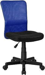 comprar comparacion La Silla Española Mojácar Silla de Oficina y Despacho, Poliéster, Azul, 50x40x95 cm