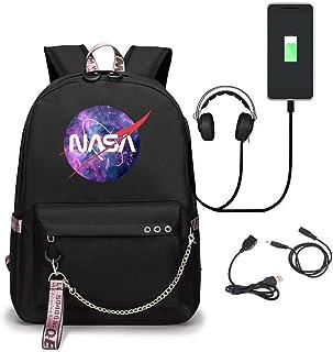 Mochila Ergonómica para Niños Y Niñas, Mochila Escolar Ligera con Diseño De Astronauta De La NASA con Puerto De Carga USB Y Correas De Hombro Ensanchadas para La Escuela O Los Viajes