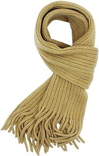 儿童针织围巾时尚纯色幼童柔软温暖围巾颈部保暖冬季适合女孩