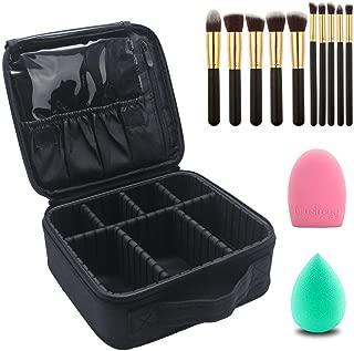 Relavel Makeup Bag with Makeup Brushes Set Makeup Organizers and Storage Cosmetic Travel Bag for Professional Makeup Brushes Makeup Train Case Set of Makeup Brushes and Makeup Case for Women (13 Pcs)