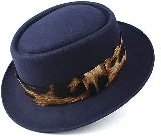 2019 Mens Womens Hats Unisex Men Women Flat Top Hat Autumn Fashion Pop Church Travel Hat Pork Pie Hat Fedora Hat for Women Wool Flat Hat Vintage Trilby Church Fascinator Hat