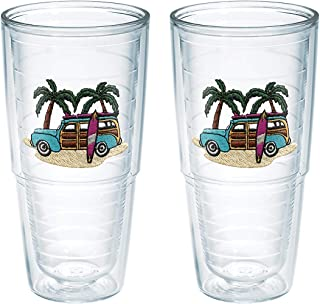 Tervis Tumbler Green Woodie 24-Ounce Double Wall Insulated Tumbler, Set of 2 - 1035980