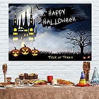 5x3ft写真ハッピーハロウィンかぼちゃランタンゴースト城バット写真背景写真ブース装飾