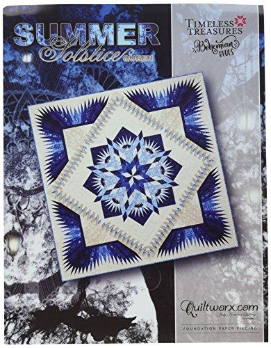 Quiltworx - Judy Niemeyer Quilting JNQ00254P1 Summer Solstice Queen Pattern
