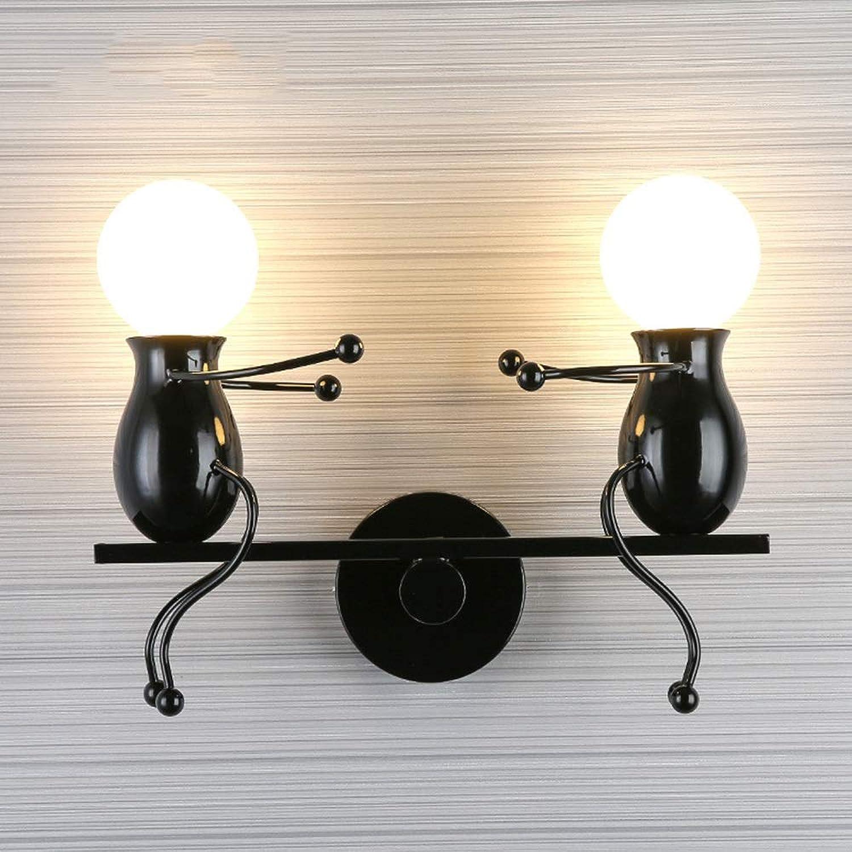 Mode Mode Postmodern Kreative Wandleuchte Kinder Wandleuchte Nachttischlampe Kreative Lampe Flur Treppe Balkon Lampe Schn (Farbe   schwarz)