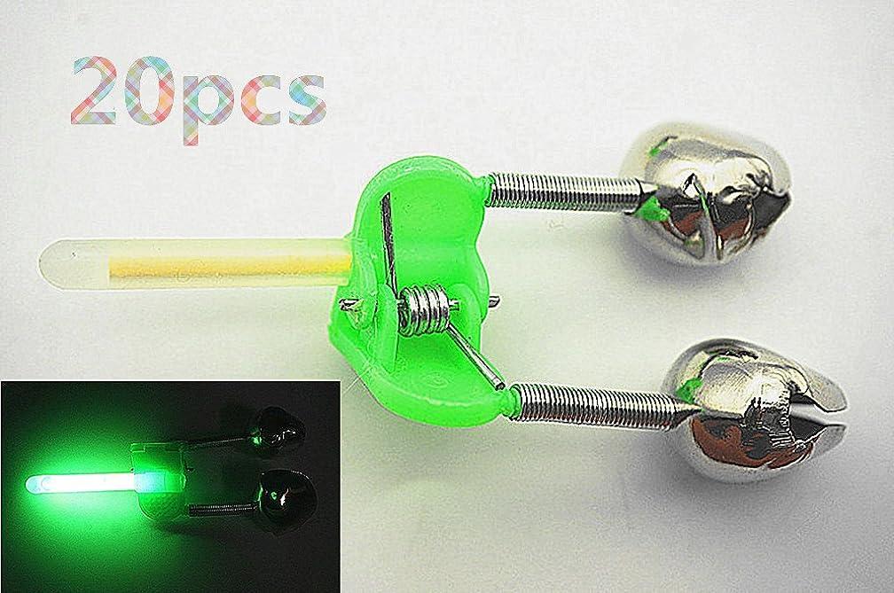 Toasis Fishing Bite Indicator Rod Alert Bell Alarm with Glow Sticks Pack of 20pcs