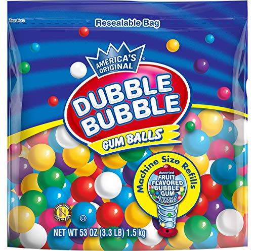 Dubble Bubble Gum Balls Machine Size Gum Ball Refills 33 Lbs Multi