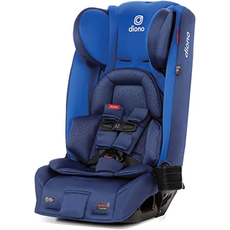 Diono Radian 3RXT, 4-in-1 Convertible Car Seat, Rear and Forward Facing, Steel Core, 10 Years 1 Car Seat, Ultimate Safety and Protection, Slim Fit 3 Across, Blue Sky