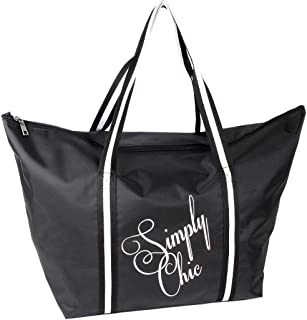 J JONES JENNIFER JONES Damen Shopper mit Reißverschluss Einkaufstasche Strandtasche Familie Badetasche Extra große Freizei...