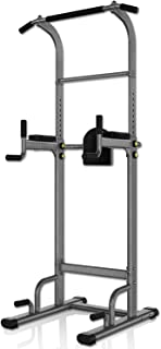 YouTen 700 lbs Rated Power Tower Multi-Function,Patent Backrest 3D Adjustable, Pull Up Bar Free Standing for Home Fitness Workout Dip Station Height Range 74.4''-95''