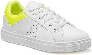 CS20018 Neon Sarı Kadın Sneaker Ayakkabı