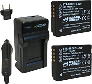 Wasabi Power Battery (2-Pack) and Charger for Leica BP-DC7, BP-DC7-E, BP-DC7-U, BP-DC-U, BP-DC and Leica V-Lux 20, V-Lux 30, V-Lux 40
