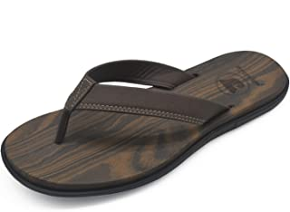 jiajiale Mens Yoga Foam Flip Flops Arch Support Slip on Thong Sandals Summer Beach Shoes