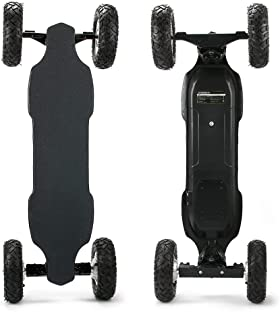 YWS Off-Road Electric Skateboard, 35 km/h Maximum Speed, Large Battery can Last 28 km, 8 Layers of Hard Rock Maple, Strong Elasticity, Explosion-Proof tire Super Shock Absorption Effect