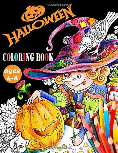 halloween Coloring Book ages 4-8: activity books for kids ages 4-8 Twisty Mazes, Hidden Pictures, and Lots More