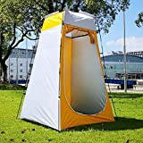 Tienda, tienda impermeable a prueba de viento de la familia, portátil con bolsa de transporte, Easy Set Up-ideal para acampar, excursionismo, senderismo y música al aire libre Festivales,Yellow Grey
