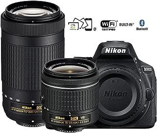 Nikon D5600 Digital SLR Camera with 18-55mm VR & 70-300mm DX AF-P Lenses - (Renewed)