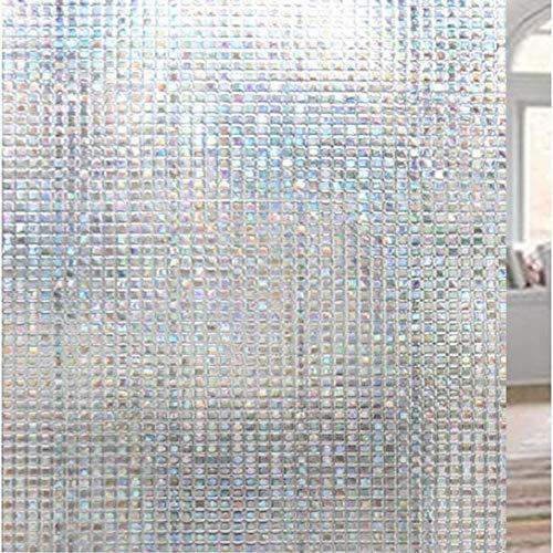 LIANG 3d icke-lim statisk cling fönster film sekretess fönster klistermärke färgglad glas film dekorativt fönster som täcker självhäftande filmfönster Anti-UV (Size : 60×500CM/2×196inch)