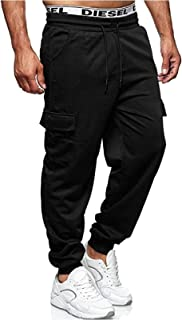 Mens Cargo Trousers Jogging Bottoms Casual Sports Joggers Trousers Workout Gym Sweatpants M-3XL