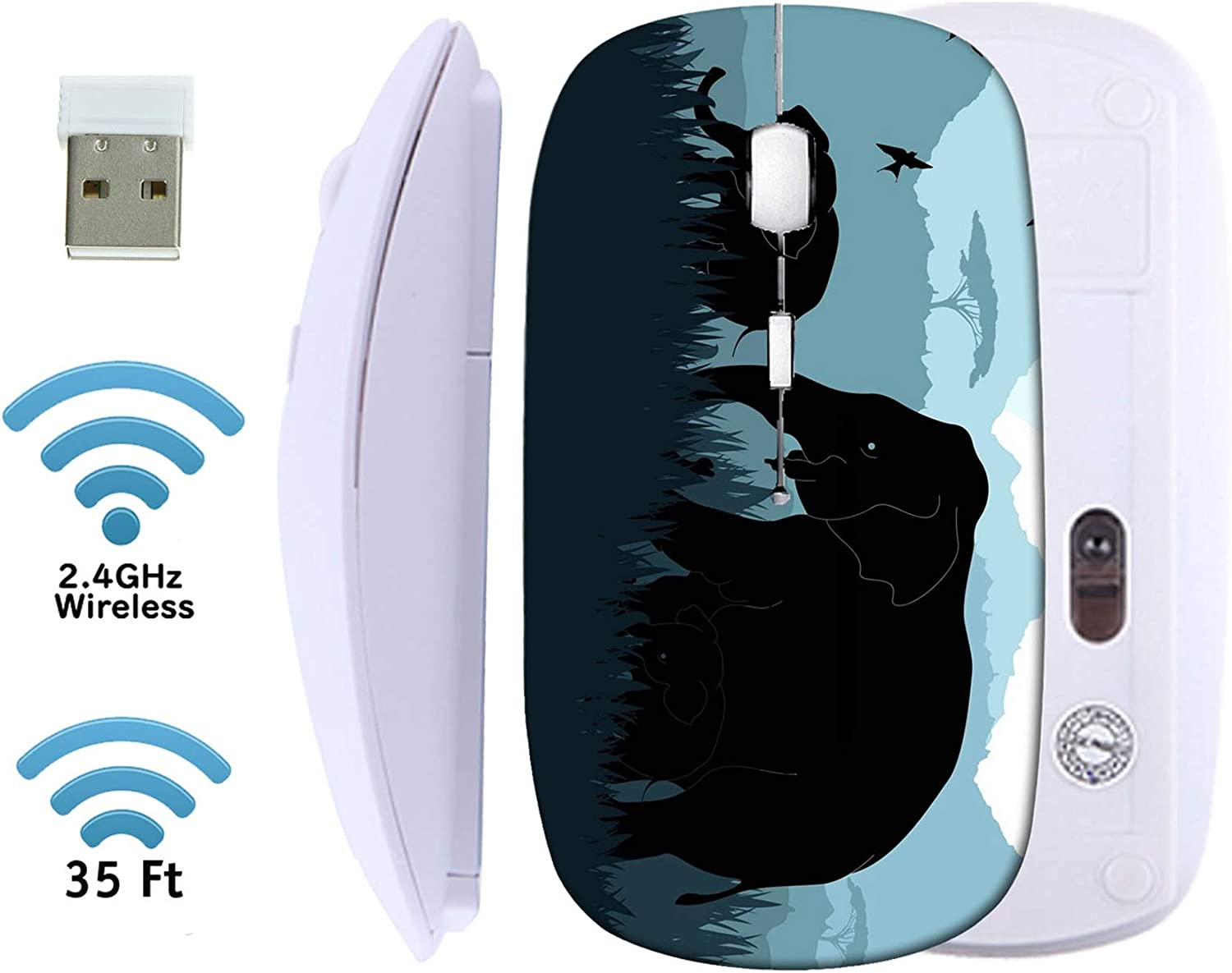 MSD Wireless Mouse 2.4G Black Base USB Financial sales sale Travel Receiver Mice with Tulsa Mall