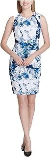 Calvin Klein Womens Floral Sleeveless Sheath Dress