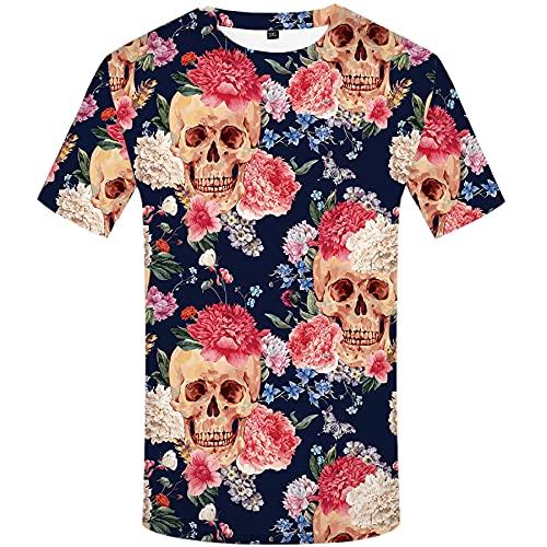 WBYFDC Camiseta De Manga Corta con Cuello Redondo con Estampado 3D para Hombre Movimiento De Verano Cuello Redondo Camiseta Transpirable Informal De Gran Tamaño