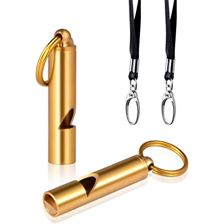 Brass Survival Whistles with Key Chain CHIVENIDO Emergency Whistle with Lanyard