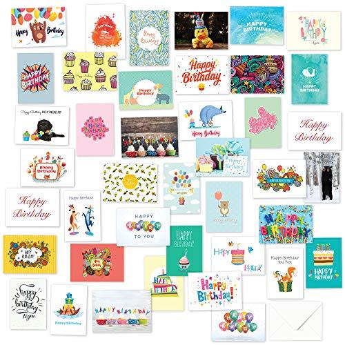 40 Birthday Cards Assortment with Envelopes (Birthday)