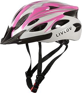 LIVLOV Casco Bicicleta Adulto Certificado CE, Casco Ajustable 56-62 cm, Casco de Bicicleta de Montaña con Visera Extraíble...