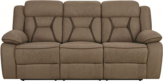 B07887ZLD4✅Houston Motion Sofa with Contrast Stitching Tan