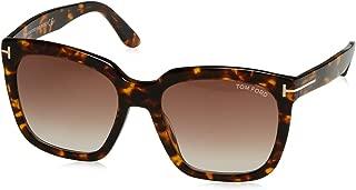 FT0502 52F Dark Havana Amarra Square Sunglasses Lens Category 2 Size 5