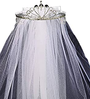 First Communion Tiara with Veil and Bow