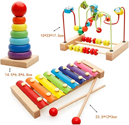 Wooden Activity Center Bead Maze - Frühkindliche Baby-Spielzeug - Kinder Holzspielzeug (Farbe   F)