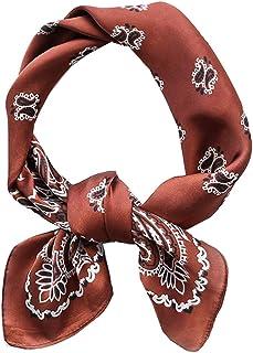 Square Silk Feeling Neckerchief Handbag Hair Scarf Bracelet Gift For Women/Men