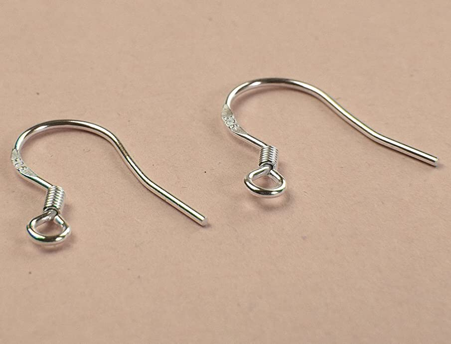 Huangiao 925 Sterling Silver French Wire Earring Hooks (100)