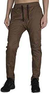 THE AWOKEN Men's Chino Jogger Stretch Pants Slim Fit Elastic Waist
