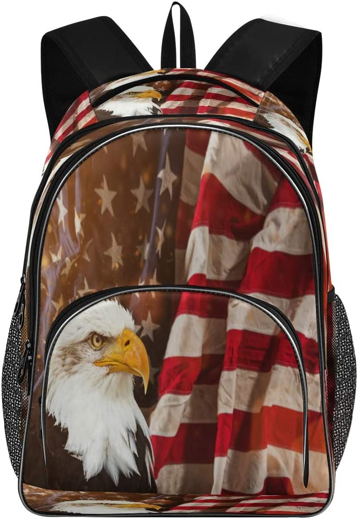 Blueangle Popular overseas North American Recommended Bald Eagle Bookbag Wate School Backpack
