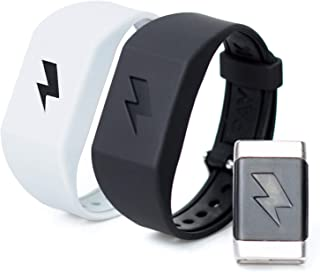 Shock Clock Wake Up Trainer with Additional Silicone Band (White) and Exclusive Habit Change eBook - Wearable Smart Alarm Clock - Never Hit Snooze Again