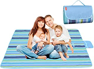 Lumcrissy Beach Mat Blanket,Large Picnic Mat, Camping Mat, Outdoor Mat,Waterproof and Multifunctional Foldable Picnic Blanket for Outdoor Beach Hiking Grass Easy to Fold & Clean(57