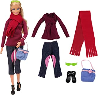 BARWA Evening Wedding Party Clothes Casual Dress Outfit Set for 11.5 Inch Girl Doll