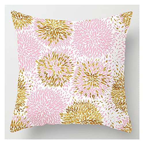 ppqq Funda de cojín decorativa para sofá o cama, diseño de rosa, color marrón, tamaño: 450 x 450 mm