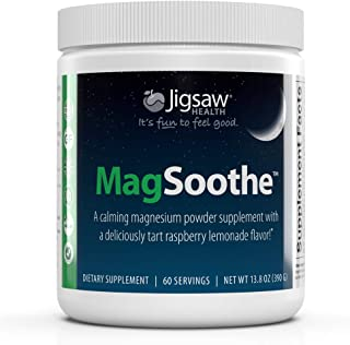 MagSoothe Jar - High-Quality Magnesium Glycinate Powder Drink Mix – Tart Raspberry Lemonade Magnesium Powder – Calm & Better Sleep Supplement – 60 Servings (Jar)