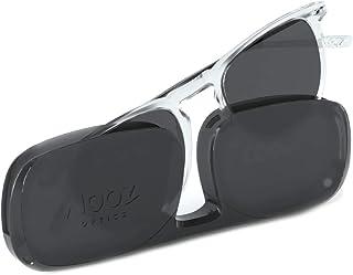 NOOZ Occhiali da Lettura Solare per Uomo e Donna Colore Crystal +1,00 con Custodia compatta - Protezione 100% UV categoria...