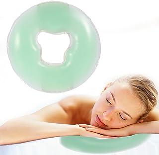 Almohada de masaje facial de silicona, 4 colores Almohada de silicona Masajeador Belleza Cuidado de la piel Superposición suave Cara Relájese Cuna Cojín Cojín(Verde claro)