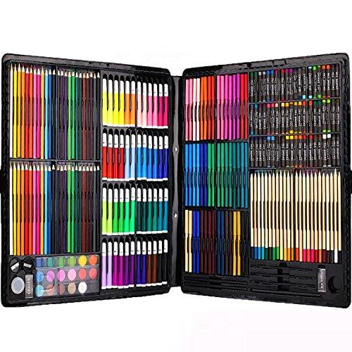Ensemble d'Artiste 258 pièces Creativity Art Set pour enfants dessin et peinture (aquarelle, crayons, marqueurs de couleur, crayons de couleur)