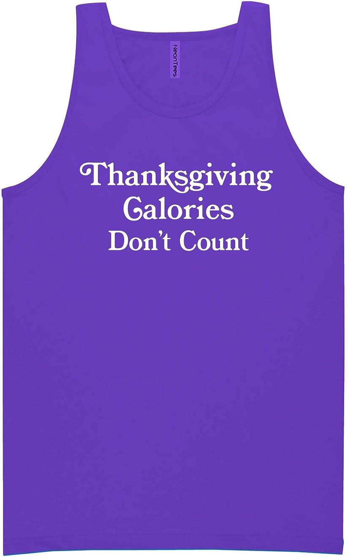 zerogravitee Thanksgiving Calories Don't Count Neon Purple Tank Top - XX-Large