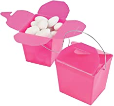FE 3/3828 Plastic Take Out Boxes (12 Boxes) 1/2-Inch, Hot Pink